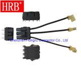 Gerade 4 Pin für Stromanschluss in schwarzer Farbe