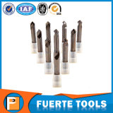 Bit de broca das flautas do carboneto de tungstênio 2 para o alumínio