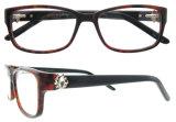 Italienische Entwurfs-Frauen-Azetat-optischer Rahmen-Brille mit Cer-Bescheinigung
