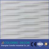 Painéis de parede 3D interior decorativos da parede padrão da onda