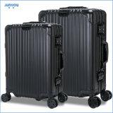 Junyou Novos Itens Leisure Aluminium 20 24 Inch Womens Luggage