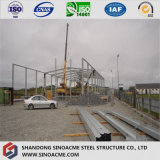 Magazzino strutturale d'acciaio industriale poco costoso/memoria di Q345b liberata di/costruzione