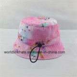 Chapeau de gosse de mode d'impression de sublimation/position d'enfants/chapeau avec la chaîne de caractères réglable, chapeau souple
