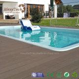 Decking anti al aire libre compuesto plástico de la piscina del resbalón WPC