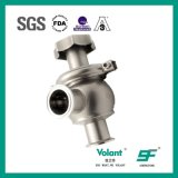 Tipo manual sanitario válvula de la bola del acero inoxidable de control de flujo
