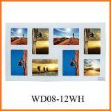 Раскрывая белая картинная рамка коллажа стены 8 вися (WD08-12WH)