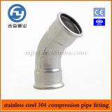 Imprensa do aço inoxidável que cabe o cotovelo igual de 45 graus