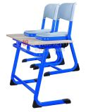 학교 Furniture Student Double Wooden Desk와 Plastic Chairs