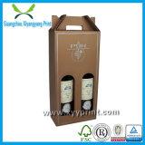 Caixas de empacotamento feitas sob encomenda do vidro de vinho da alta qualidade com logotipo