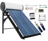Calefator de água solar do tanque de água quente do geyser do coletor de alta pressão do sistema de energia solar da tubulação de calor da câmara de ar de vácuo