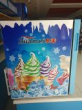 호화스러운 유형 유리제 문 소형 아이스크림 냉장고