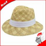 Chapéu de Panamá popular da praia do grande papel do verão 2017