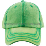Décharge lavé Impression Broderie coton sergé Sport Baseball Cap ( TR02755 )