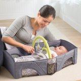 Saco do bebê da ucha 2 In1 portátil, pacote variável dobrável, ombro de dobramento do punho do jogo da isolação do Anti-Mosquito da base de Bag&Bed do curso Multifunctional do bebê