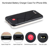 Mobile de Selfie d'éclairage LED de côté de pouvoir d'Eonfine/caisse de pierre à aiguiser réservoir de Pcrashproof pour l'iPhone 6 6s plus
