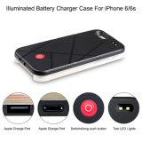 Móbil do diodo emissor de luz Selfie F do banco da potência/caixa claros da pedra de afiar tanque de Pcrashproof para iPhone6plus