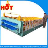 De dubbele Machine van het Dakwerk van de Bladen van het Metaal van Lagen, het Broodje die van de Tegel van het Dakwerk van het Staal van de Kleur Machine vormen