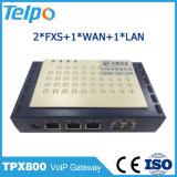 El esperar de llamada de la fábrica de China 2 crisoles VoIP una línea de FXS uno ATA