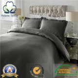 Cotton/CVCのホテルまたは病院またはホーム羽毛布団は0.5cm/1cm/3cmのサテンの縞とセットした