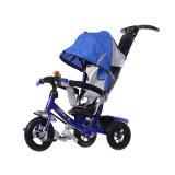 A cor azul caçoa o triciclo de 3 rodas com certificado do Ce
