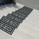 Esteiras de borracha recicl ao ar livre do passo de escada do anti do enxerto patim não