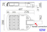 Fabbrica esterna dell'aria aperta che fornisce l'indicatore luminoso 60W della strada di alta qualità LED