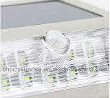 Lâmpada impermeável do jardim 9LED da luz nova da parede do sensor de movimento da potência solar PIR ao ar livre