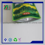 Sacchetto in piedi del sacchetto della chiusura lampo di plastica approvata dalla FDA del commestibile
