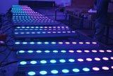 12X10W RGBW 4 in 1 Wand-Unterlegscheibe-Flut-Zwischenlage-Streifen-Stab-Licht des Stadiums-hellem LED