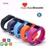 Bracelet 2016 intelligent imperméable à l'eau avec le contrôle de fréquence cardiaque (ID100)