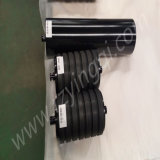 Gruben-Transport-Bandförderer-Träger-Abflussrinne-Rückkehr-Auswirkung-Stahlgummiplatte flacher Gummi-HDPE Stahlrollenrollen-Leerlauf