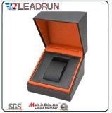 Caja de embalaje del reloj de empaquetado del caso del terciopelo del papel de cuero del reloj de almacenaje del rectángulo del reloj del embalaje de la visualización de madera del regalo (W1)
