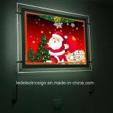 벽 커튼 수정같은 아크릴 LED 가벼운 상자