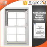 Madera Windows de aluminio del alerce/de pino para el chalet, ventana colgada doble de aluminio revestida modificada para requisitos particulares de madera sólida de la talla