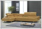 Sofa moderne noir, meubles en cuir de sofa (C40)