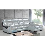 Sofá reclinável em forma de couro cinzento em forma de l sofá Sofá reclinável em canto 6041L