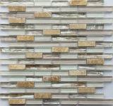 Tuiles de mosaïque mélangées en verre et de pierre de bâton