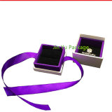 Caja de embalaje determinada modificada para requisitos particulares alta calidad de la joyería del regalo de la cartulina de la insignia