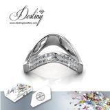Het Kristal van de Juwelen van het lot van Swarovski boog Briljante Ring