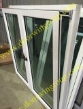 Chêne plein de modèle européen/fenêtre en aluminium en bois de teck/pin