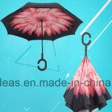 De dubbele Draagbare Handsfree Rechte Omgekeerde Omgekeerde Paraplu van Luifels