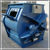 Doppeltes Shaft Paddle Type Concrete Powder Mixer mit CER Certificate