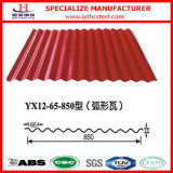 0.45mm Thick Dx51d PPGI Color Coated Corrugated Roofing Sheet