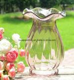 Florero de cristal con el borde del loto/el florero