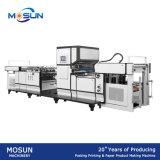 Msfm-1050b vollautomatischer vertikaler Typ Blatt-Papier und Haustier Film-lamellierende Maschine Belüftung-BOPP mit Kettenmesser