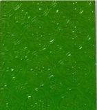철사 Nashiji 파란 Pattenred 유리 (6mm)