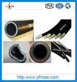 """Провод En856 4sh 3/8 """" 10mm закрутил в спираль гидровлический шланг"""