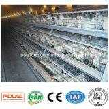 Клетка батареи слоя цыпленка 4 ярусов для птицефермы