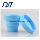 Чашка оптового силикона силикона качества еды нетоксического складного складывая