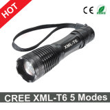 Hot Sale CREE Xml-T6 Flashlight 5 Modes Zoomable LED Light Torch